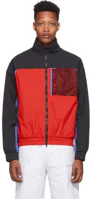 Aimé Leon Dore Red Mixed Media Windbreaker Jacket