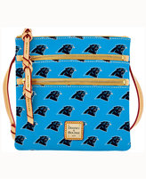 Dooney & Bourke Carolina Panthers Triple-Zip Crossbody Bag