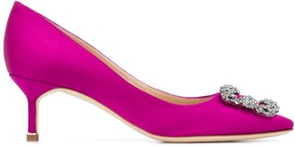 Manolo Blahnik Hangisi 60mm silk pumps