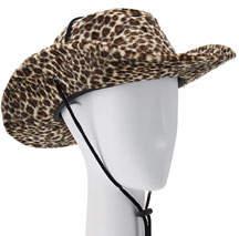 Natasha Accessories Limited Leopard-Print Velvet Cowboy Hat