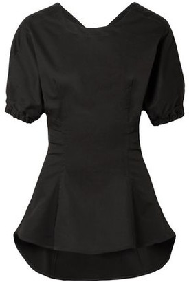 Tome Open-back Stretch-cotton Poplin Top