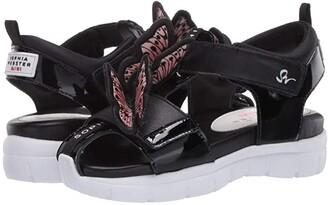 Sophia Webster Riva Wavy Sandal (Little Kid/Big Kid) (Black/Nude) Women's Shoes