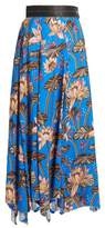 Loewe X Paula's Ibiza floral-print asymmetric-hem skirt