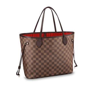 Louis Vuitton Neverfull Damier Ebene (Without Pouch) MM Cerise Lining