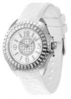 Police Women's PL-13090JSG/28A Jade Crystal Bezel White Rubber Watch