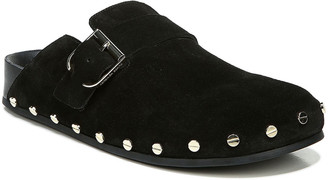 Veronica Beard Fern Studded Suede Buckle Clogs