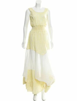 Astier Ny Silk Maxi Dress Yellow