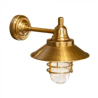 Emac & Lawton Indoor/outdoor Eliza Wall Light Antique Brass