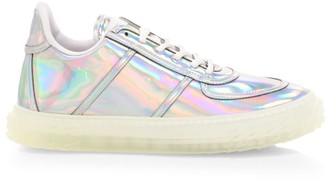 Giuseppe Zanotti Blabber Jellyfish Iridescent Leather Sneakers