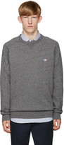 MAISON KITSUNÉ Grey Embroidered Pullover