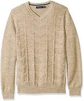 Nautica Men's Multi-Stitched V-Neck Sweater