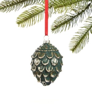 Holiday Lane Birds & Boughs Molded Glass Pine Ornament, Created for Macy's