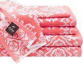 Echo Surat 6-Piece Cotton Jacquard Towel Set in Coral