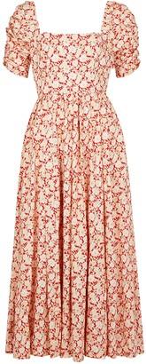 Free People She's A Dream floral-print cotton midi dress