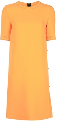 Marni Side Buttoned Short-Sleeved Dress
