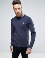 BOSS ORANGE by Hugo Boss Crew Neck Sweatshirt in Navy