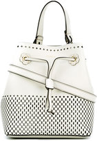 Furla Stacy laser cut bucket tote - women - Calf Leather - One Size