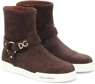 Dolce & Gabbana Kids Suede ankle boots
