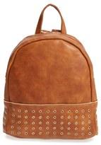 Sole Society 'Prescott' Grommet Faux Leather Backpack - Black