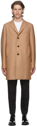 Harris Wharf London Tan Pressed Boxy Coat
