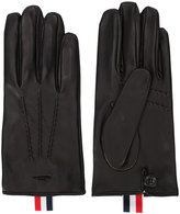 Thom Browne striped detail gloves - men - Nappa Leather - M