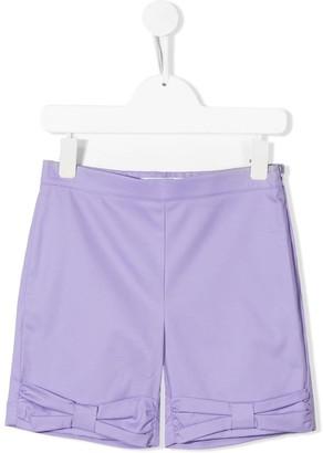 Vivetta Kids Bow Detail Shorts