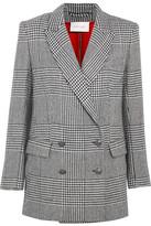 Pierre Balmain Double-breasted Houndstooth Tweed Blazer - Black