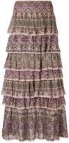 Cecilia Prado long ruffled skirt - women - Viscose - P