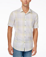 Alfani Men's Slim Fit Plaid Short-Sleeve Shirt, Created for Macy's