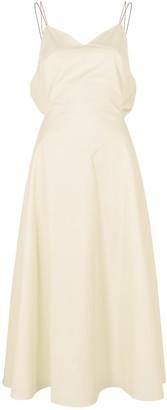 Anna October Daria Ivory Twill Midi Dress