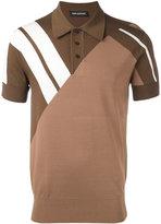 Neil Barrett contrast stripe polo shirt - men - Nylon/Viscose - S