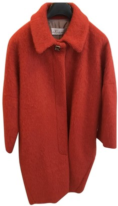 Non Signé / Unsigned Non Signe / Unsigned Oversize Orange Wool Coat for Women