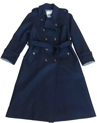 Saint Laurent Black Wool Trench Coat for Women