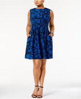 Anne Klein Plus Size Seamed A-Line Dress