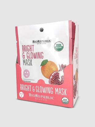 Biorepublic Skincare Bright and Glowing Organic Facial Sheet Masks