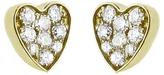 Jennifer Meyer Diamond Heart Stud Earrings - Yellow Gold