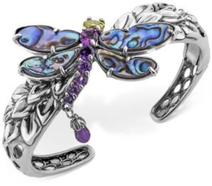 Carolyn Pollack Multi-Gemstone Dragonfly Bangle Bracelet (9-3/4 ct. t.w.) in Sterling Silver