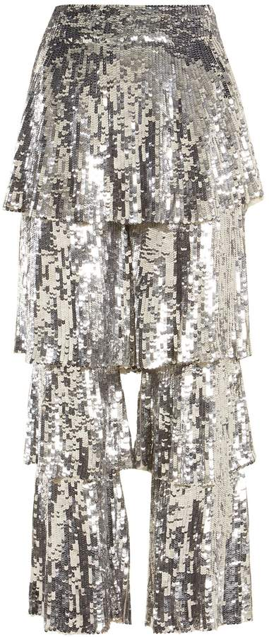 Osman Felix sequin-embellished cropped trousers
