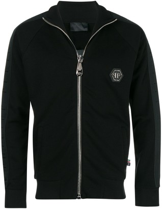 Philipp Plein Front Zip Turtleneck Jumper