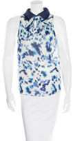 Peter Som Abstract-Print Silk Top