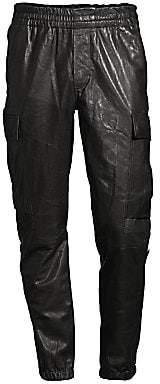 J Brand Men's Leather Jogging Pants