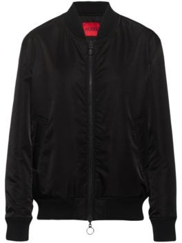 HUGO BOSS Unisex reversible bomber jacket in recycled fabric