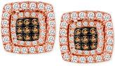 LeVian Le Vian Chocolatier® Diamond Button Earrings (5/8 ct. t.w.) in 14k Rose Gold