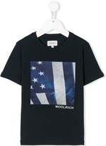 Woolrich Kids logo graphic print T-shirt