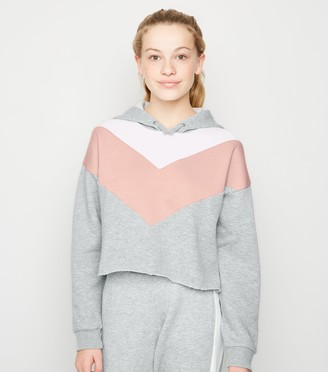 New Look Girls Light Colour Block Hoodie