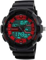 Gosasa Men's Military Sport Digital LED Quartz Watch With Dual Time Chronograph Waterproof Alarm Calendar