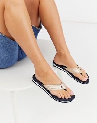 Tommy Hilfiger Tommy Jeans metallic summer sandals-Gold