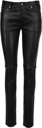 Saint Laurent Five Pockets Leather Pants