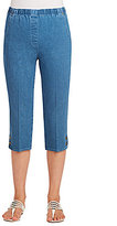 Allison Daley Tab Detail Pull-On Denim Capri