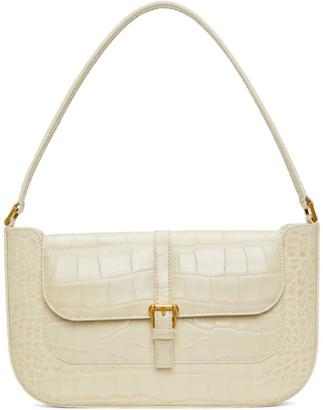 BY FAR Off-White Croc Miranda Shoulder Bag